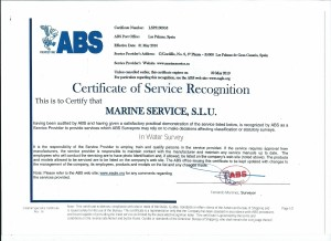 ABS CERTIFICATE