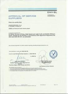 DNV:GL ServiceSupplier Certificate