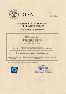 RINA-APPROVAL-CERTIFICATE